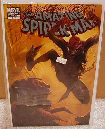 "AMAZING SPIDER-MAN #573 NM (2008)""VARIANT COVER"""