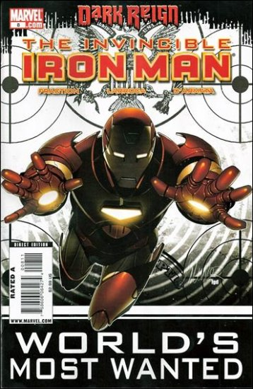 INVINCIBLE IRON MAN #8 NM (2009) *DARK REIGN*