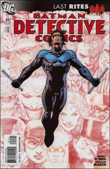 "DETECTIVE COMICS #851 NM LAST RITES (2008)""VARIANT COVER"""