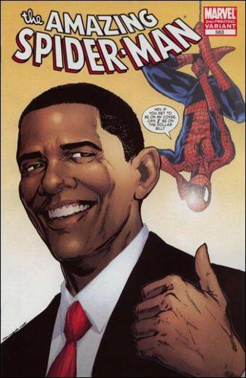 AMAZING SPIDER-MAN #583 NM PRESIDENT OBAMA 2ND PRINT VARIANT
