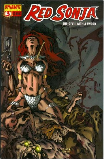 RED SONJA #3 VF/NM RUBI WRAP-AROUND COVER  * DYNAMITE*