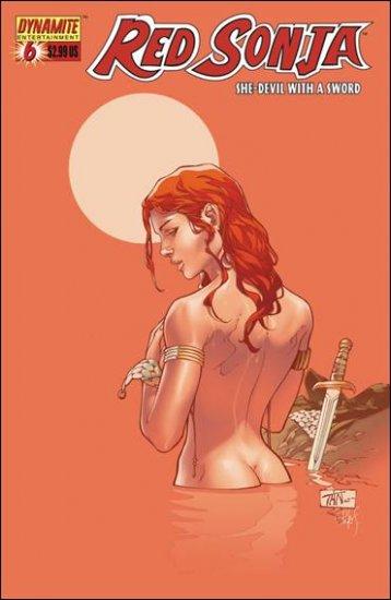 RED SONJA #6 VF/NM TAN COVER  *DYNAMITE*