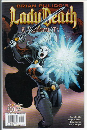 BRIAN PULIDO'S LADY DEATH:A MEDIEVAL TALE #10 (2004)