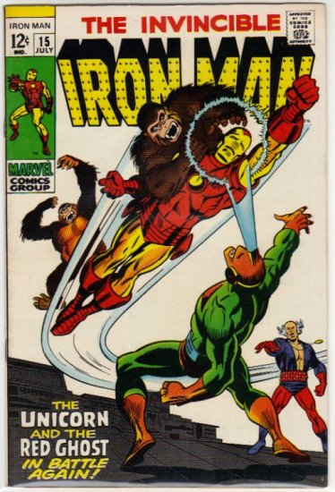 IRON MAN #15 VF+ (1968)
