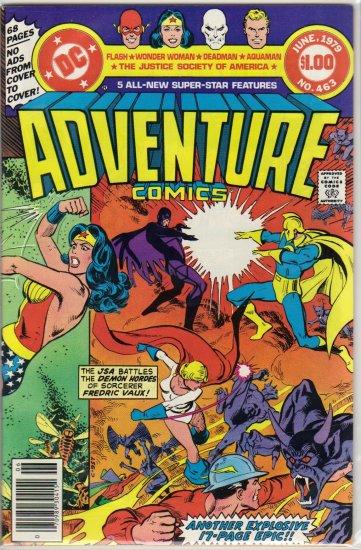 ADVENTURE COMICS #463 *JSA,AQUAMAN, FLASH, WONDER WOMAN, DEADMAN*