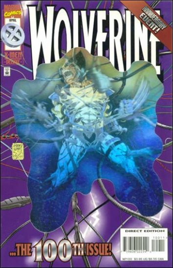 WOLVERINE #100 VF/NM (1988) FOIL COVER