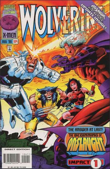 "WOLVERINE #104 VF/NM (1988) ""BEGINNING OF ONSLAUGHT"""