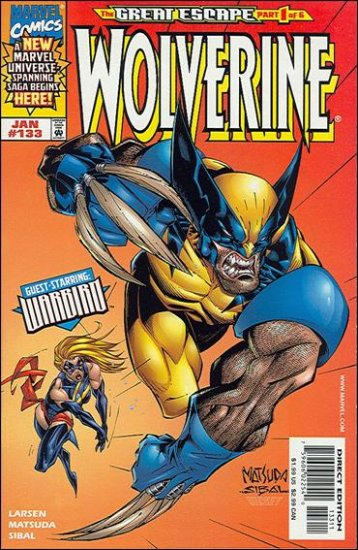"WOLVERINE #133 VF/NM (1988) ""WARBIRD FROM NEW AVENGERS"""