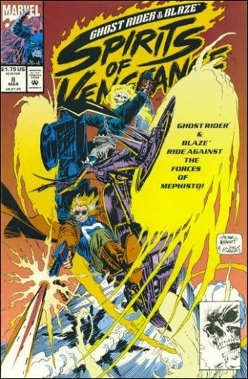 GHOST RIDER/BLAZE: SPIRITS OF VENGEANCE #8 VF/NM