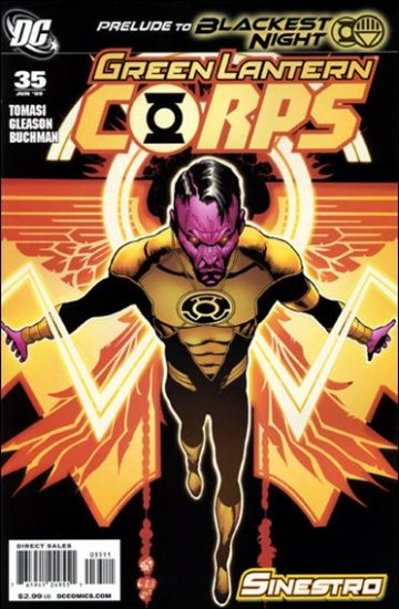 GREEN LANTERN CORPS #35 NM (2009)BLACKEST NIGHT *CORRECTED*