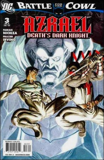 AZRAEL: DEATH'S DARK KNIGHT #3 NM (2009) *BATTLE FOR THE COWL*
