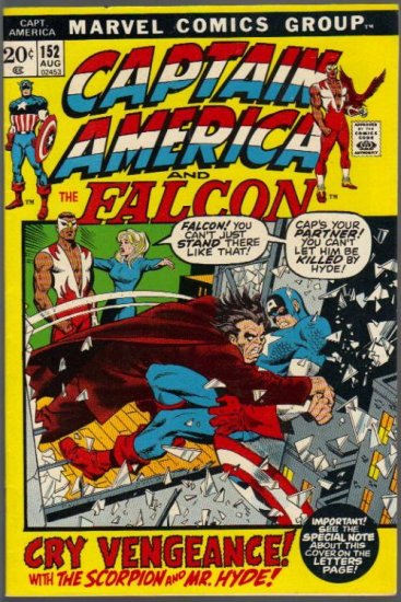 CAPTAIN AMERICA #152 VF- (1968 VOL) *CAPTAIN AMERICA AND THE FALCON*