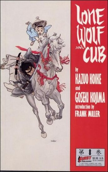 LONE WOLF AND CUB #8 VF/NM (1987)
