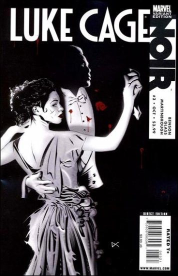 """LUKE CAGE NOIR #3  NM (2009) """"B"""" COVER VARIANT"""