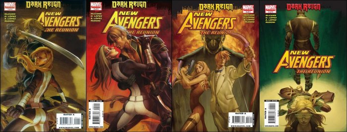 NEW AVENGERS THE REUNION COMPLETE SET #1-4  NM (2009) *DARK REIGN*