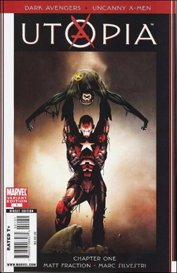 DARK AVENGERS/UNCANNY X-MEN UTOPIA #1B 1:20 VARIANT NM (2009)  Jae Lee Cover