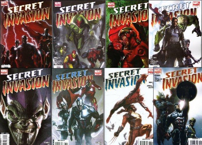 SECRET INVASION COMPLETE SET #1 - 8 NM (2008)