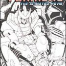 TRANSFORMERS THE ANIMATED MOVIE #4 VF/NM SKETCH COVER B