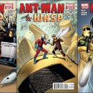 ANT-MAN & WASP COMPLETE TRADE SET #1-3 ALL NM (2010)