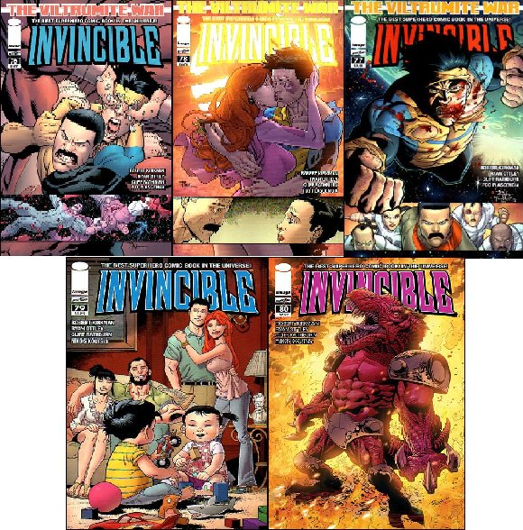 INVINCIBLE #76-80 NM (2011) COMPLETE SET