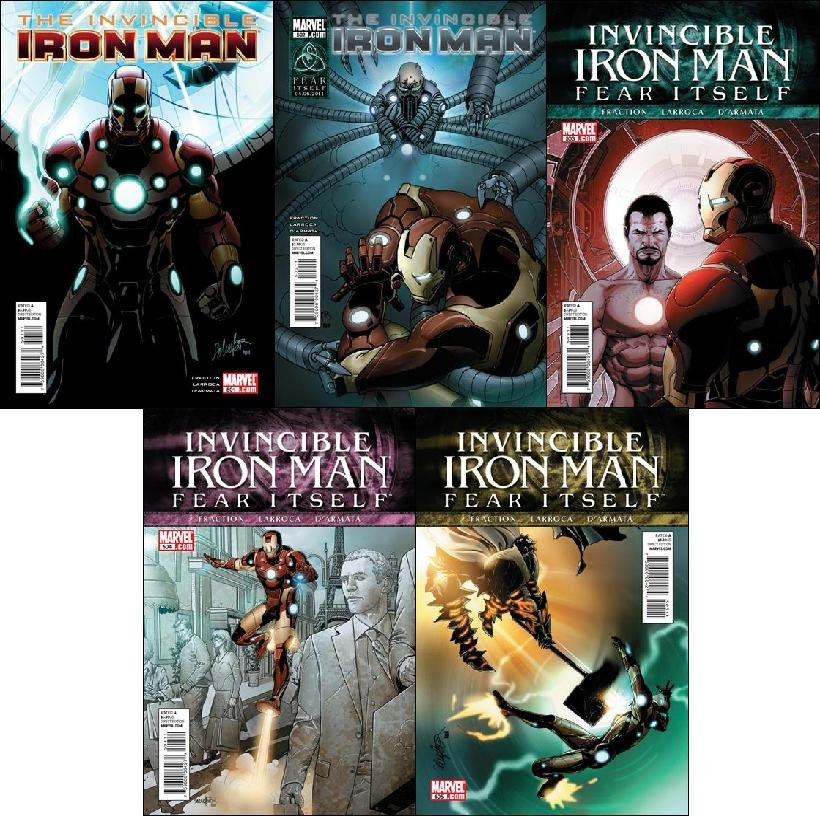 THE INVINCIBLE IRON MAN #500-505 NM (2011)COMPLETE SET
