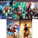 "IRON MAN LEGACY #1-5 (2010) ""B COVER"" EDITION - TRADE SET OF 5 ISSUES"
