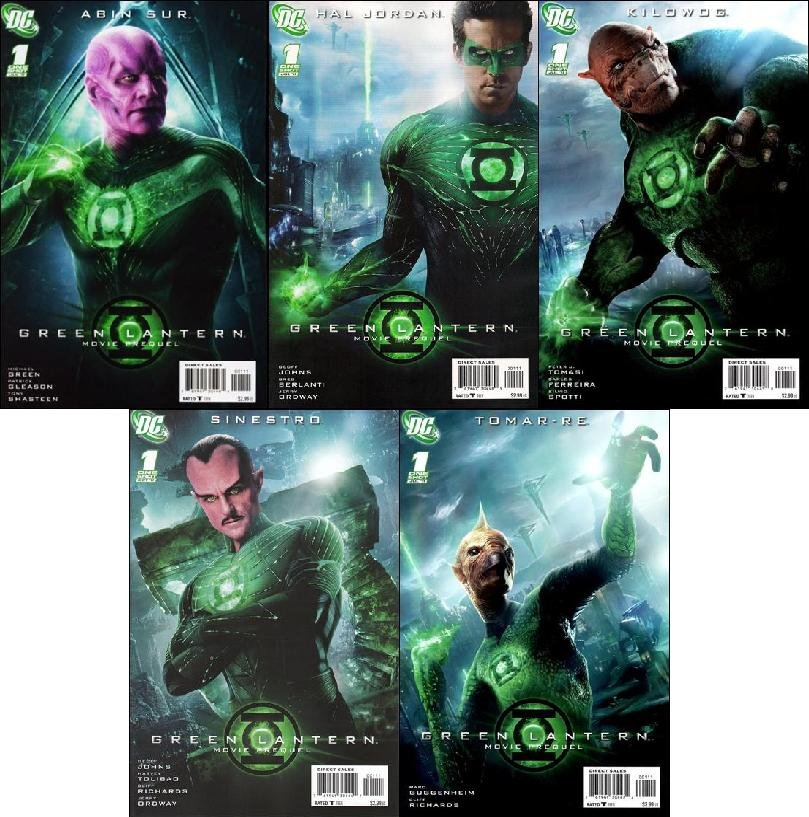 GREEN LANTERN MOVIE PREQUEL COMPLETE SET OF ALL 5 ISSUES NM(2011)