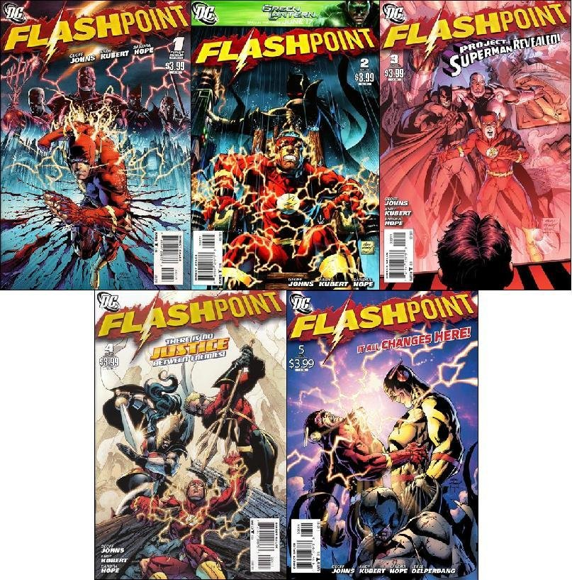 FLASHPOINT #1 - 5 (2011) NM *COMPLETE SET OF 5 ISSUES*