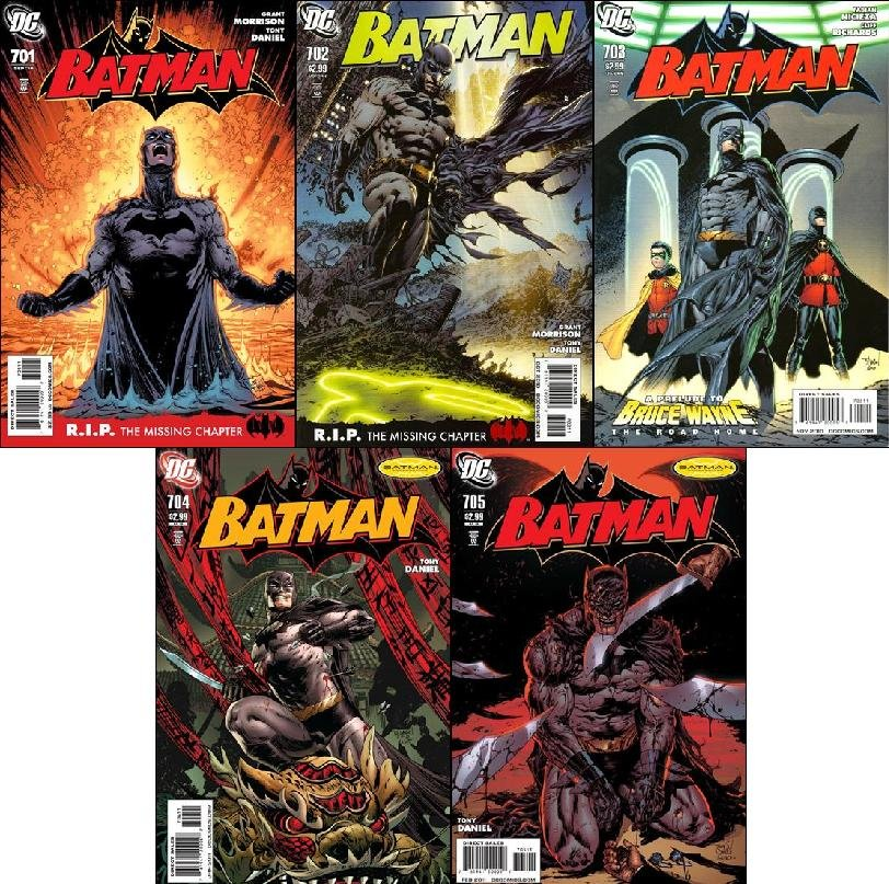 BATMAN #701 - 705 NM (2009) *COMPLETE SET OF 5 ISSUES*