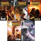 MARVEL ZOMBIES SUPREME #1, 2, 3, 4, 5 NM (2011) *Complete Set*