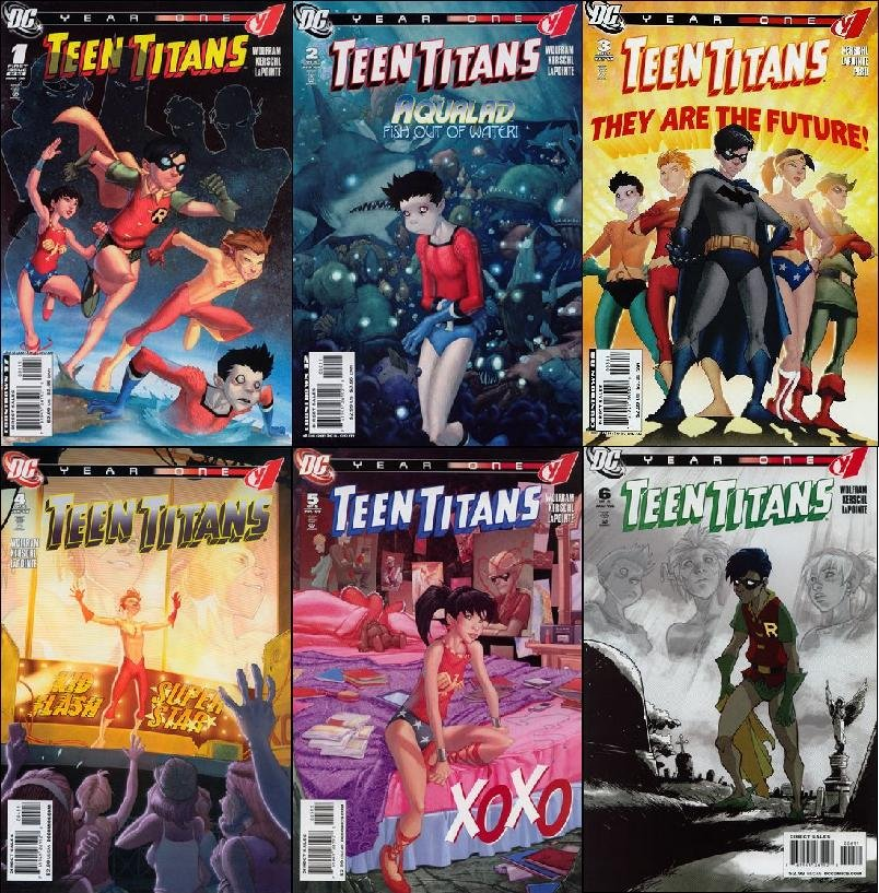 TEEN TITANS YEAR ONE #1 - 6 VF/NM *COMPLETE SET OF 6 ISSUES* (2008)