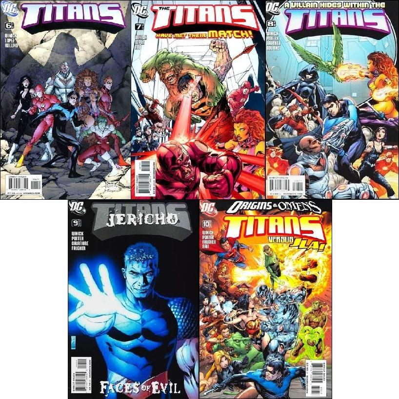 TITANS #6, 7, 8, 9, 10 VF/NM (2008-2009) *Trade Set*