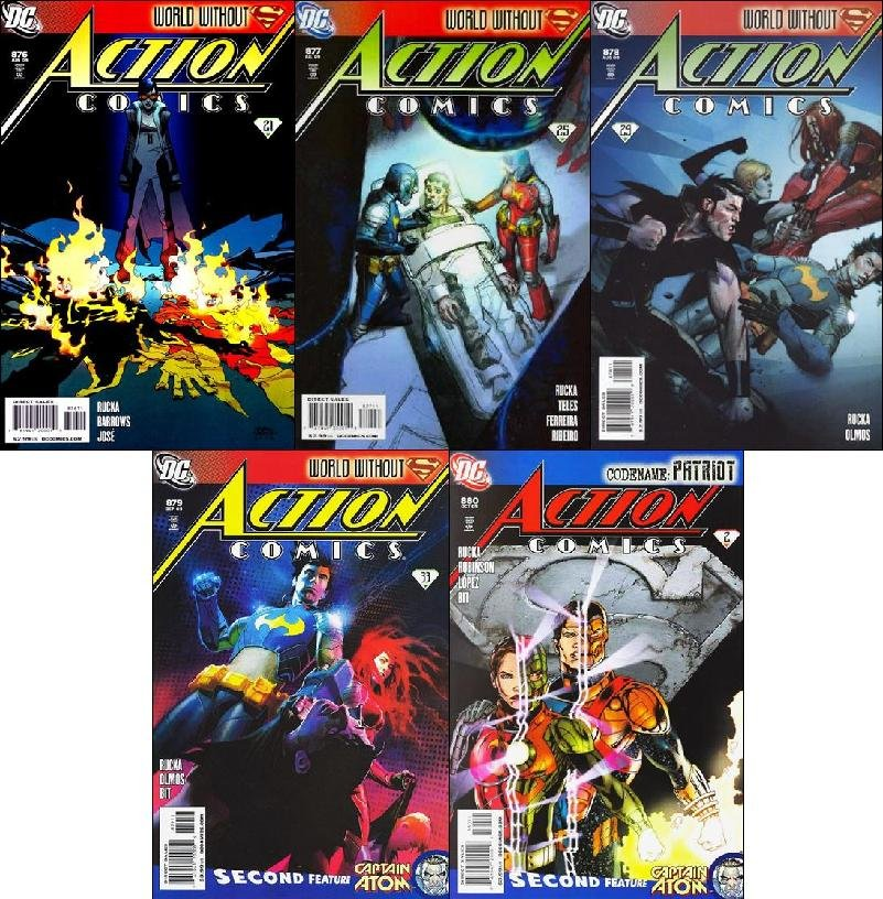 ACTION COMICS #876, 877, 878, 879, 880 [2009] VF/NM *Trade Set!*