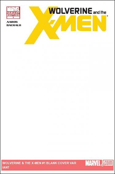Wolverine And the X-Men #1 Blank Variant Cover NM (2011) *Regenesis*