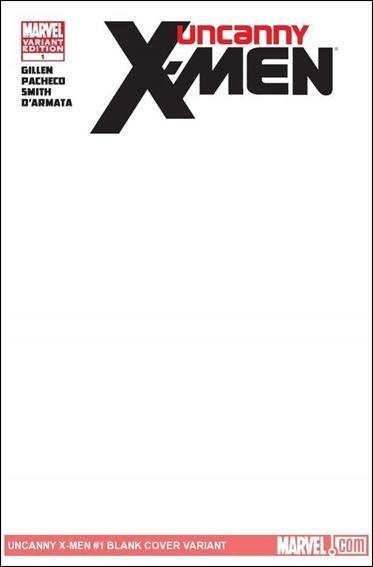 Uncanny X-Men #1 Blank Variant NM (2011) *Regenesis*