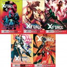 Uncanny X-Force #1, 2, 3, 4 , 5 [2013] VF/NM *Marvel Now Trade Set*