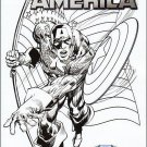 Captain America #1 [2011] VF/NM Neal Adams Sketch variant Diamond Select