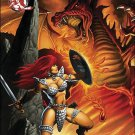 Red Sonja #20 Fiery Red Foil Variant VF/NM With Certification of Authenticity