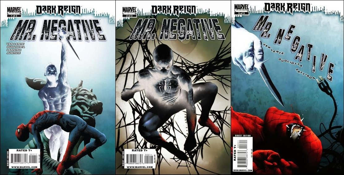 Dark Reign Mr. Negative (Vol 1) #1 2 3 [2009] VF/NM *Complete Set*