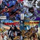 Justice League #23.1 23.2 23.3 23.4 [2013] VF/NM Villain Cover Set *3D Lenticular Motion Cover*