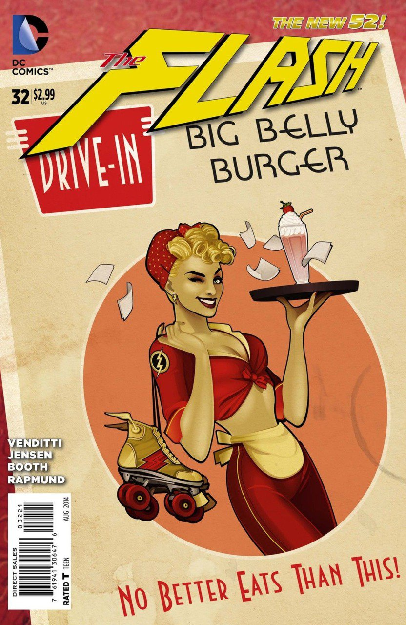 Flash #32 [2014] VF/NM *The New 52!*Bombshells Variant*
