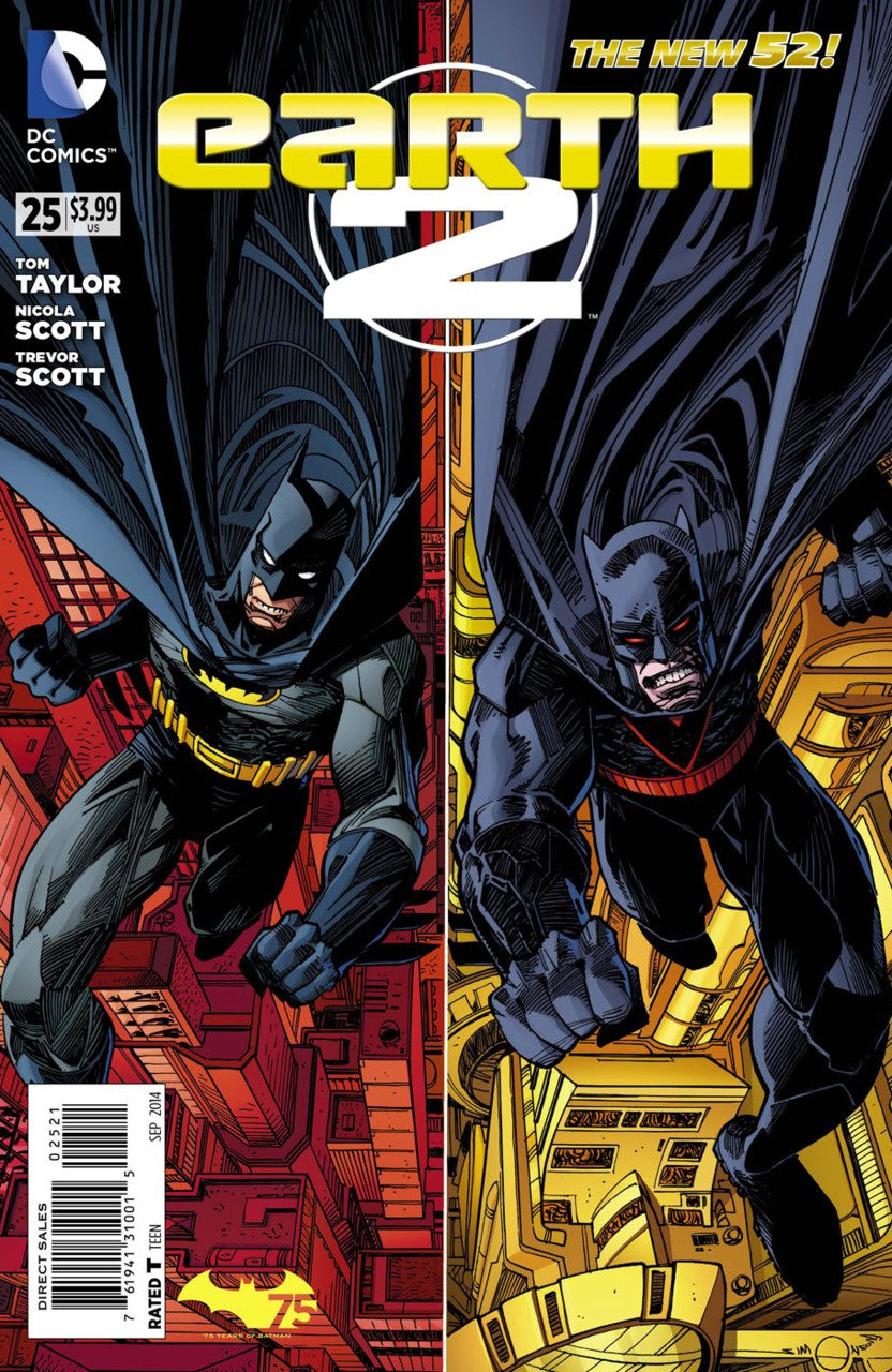 Earth 2 #25 Batman 75th Anniversary Variant [2014] *The New 52*