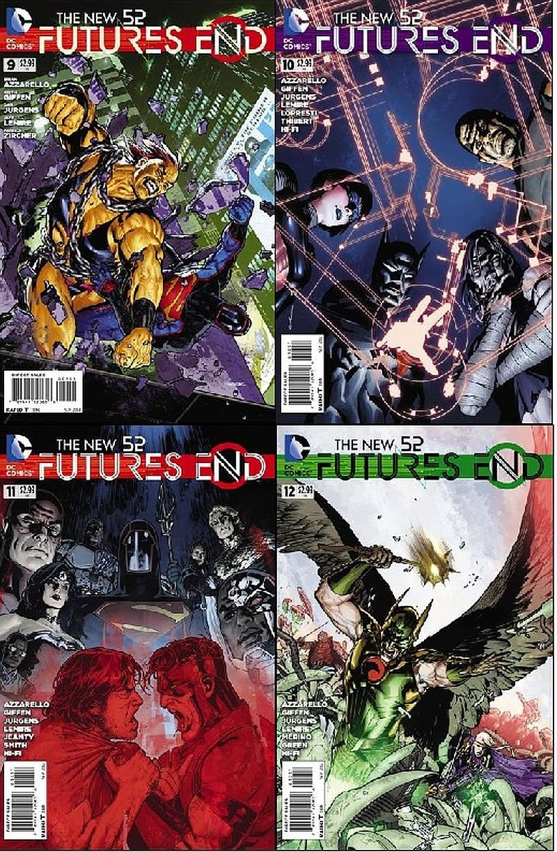 New 52 Futures End #9, 10, 11, 12 (2014)  *Trade-set* VF/NM