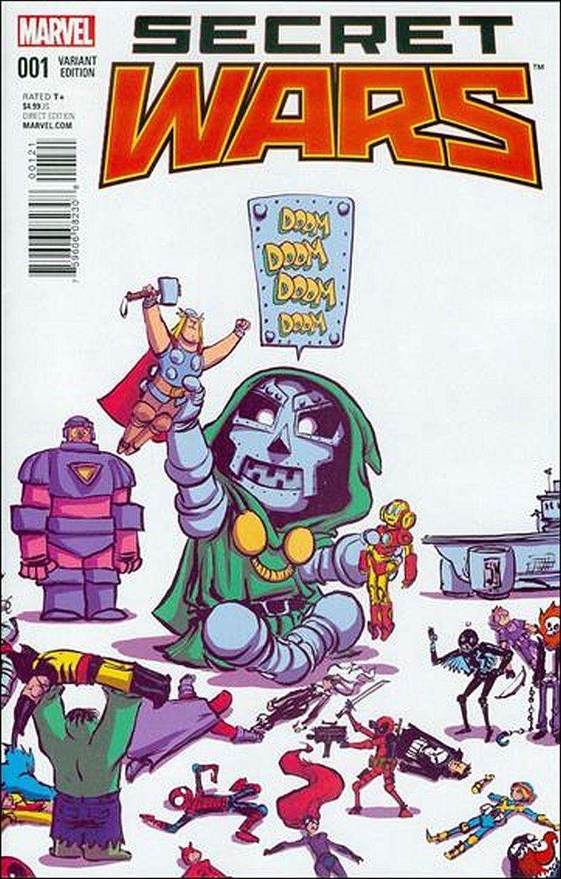 Secret Wars #1 Skottie Young Variant [2015] VF/NM Marvel Comics