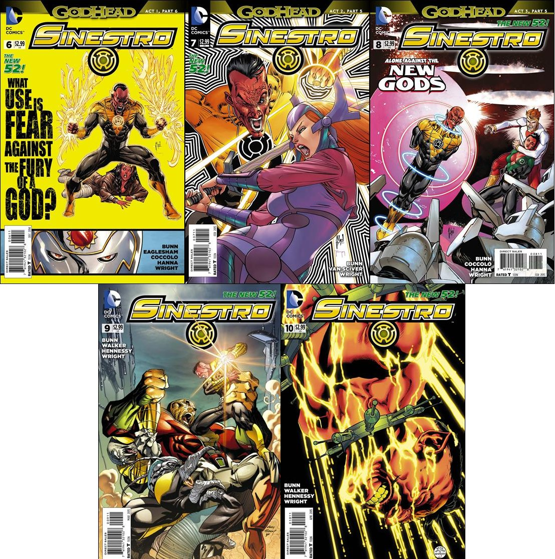 Sinestro Trade Set #6 7 8 9 10  [2014-2015] VF/NM DC Comics