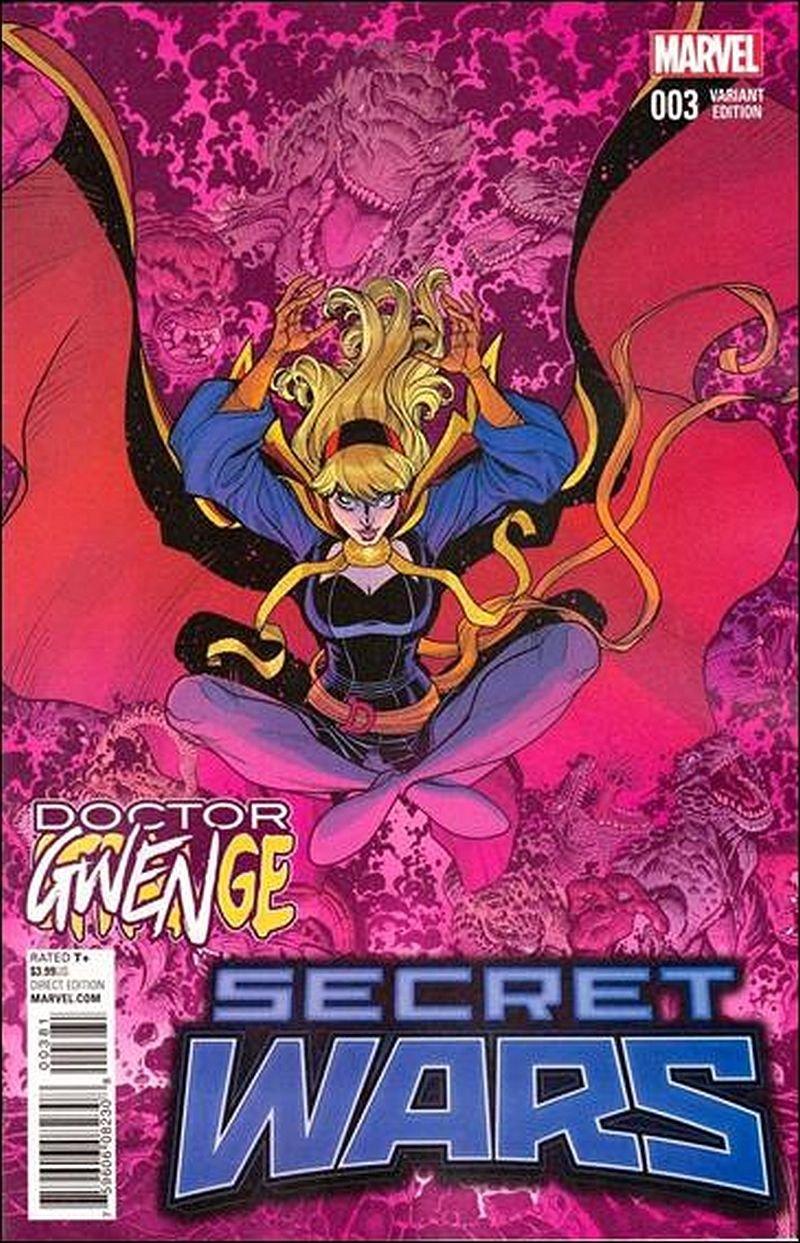 Secret Wars #3 Nick Bradshaw Doctor Gwenge Cover [2015] VF/NM Marvel Comics