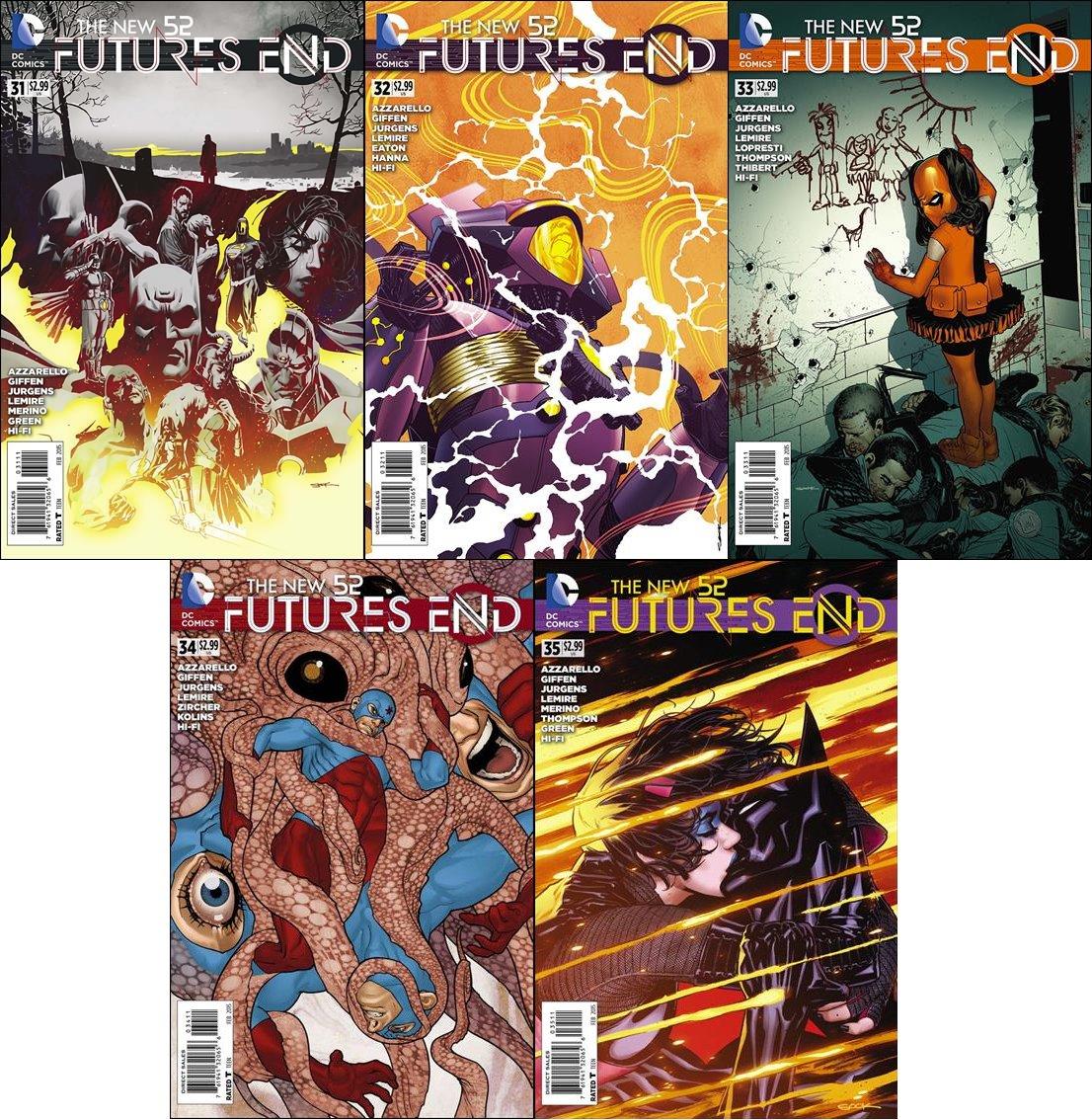 New 52 Future's End Trade Set #31 32 33 34 35 [2014] VF/NM DC Comics
