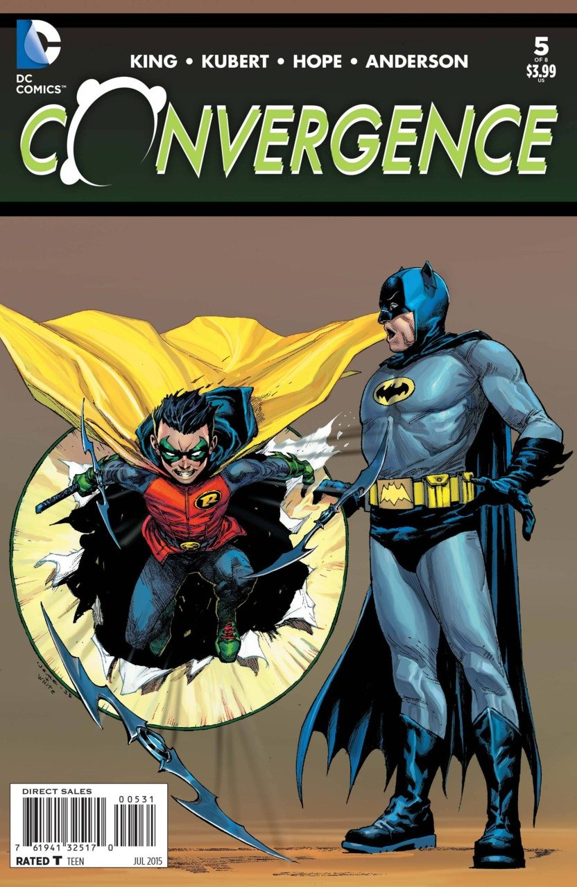 Convergence #5 Jerome Opena 1:25 Variant [2015] VF/NM DC Comics