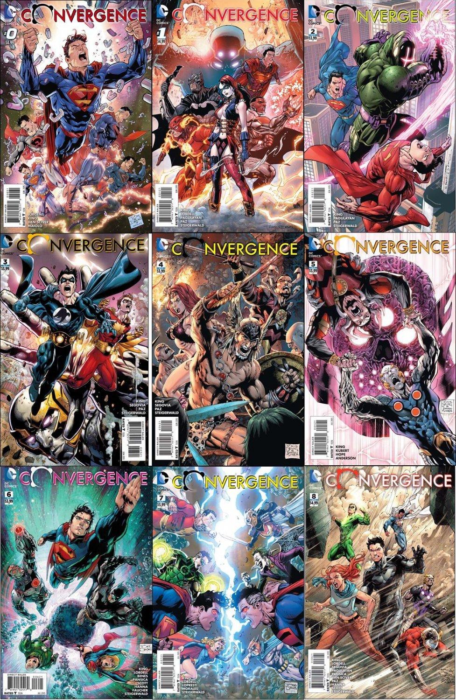 Convergence #0 1 2 3 4 5 6 7 8 Tony Daniels Covers [2015] VF/NM DC Comics Complete Set