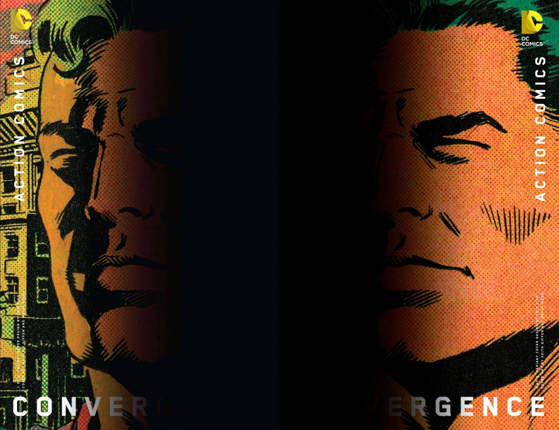 Convergence Action Comics #1 & 2 Chip Kidd Variants [2015] VF/NM DC Comics Trade Set